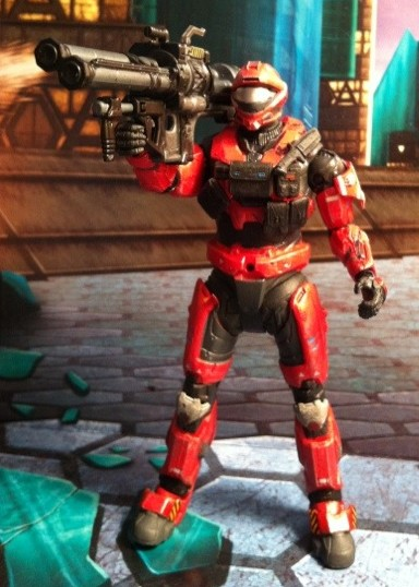 TOY REVIEW: Halo Reach Series 6 Red Recon Spartan Action