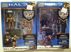 Halo Mega Bloks Armory Packs UNSC and Covenant 96951 and 96952 2012
