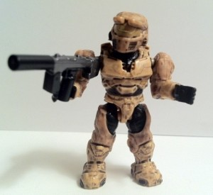 Tan Spartan Mark IV Figure with SMG from Halo Mega Bloks UNSC Armory 96951 2012