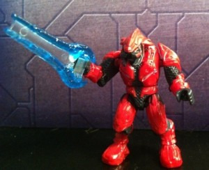 Red Elite Combat Figure from Halo Mega Bloks Versus: Covenant Locust Attack 96965