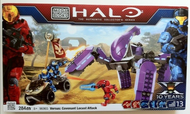 Packaged Box Front Halo Mega Bloks Versus: Covenant Locust Attack 96965 Set
