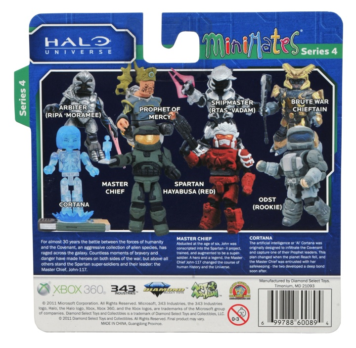 Halo Minimates Packaging Back Series 4