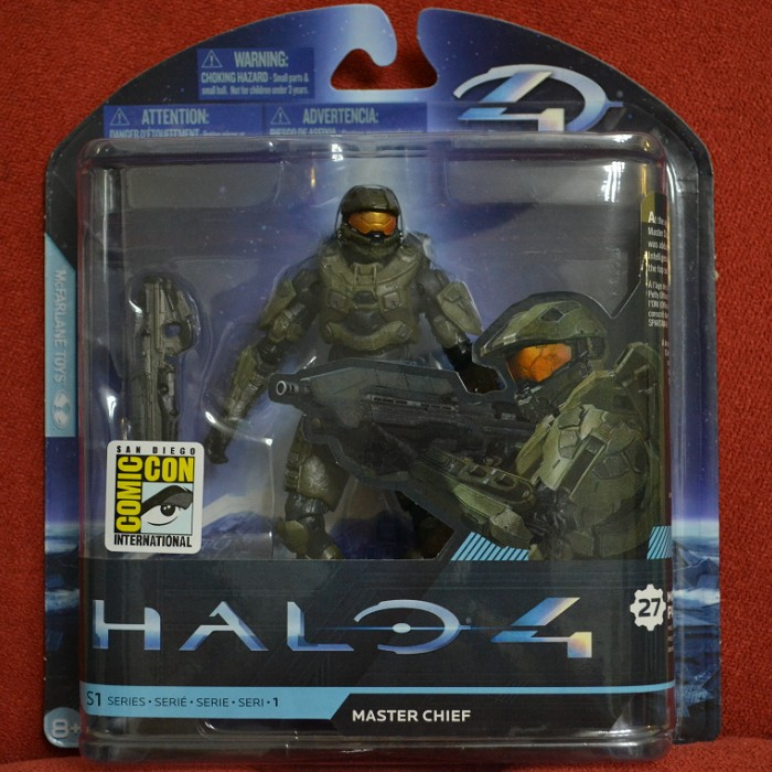 McFarlane Toys SDCC 2012 Halo 4 Master Chief Action Figure Packaged