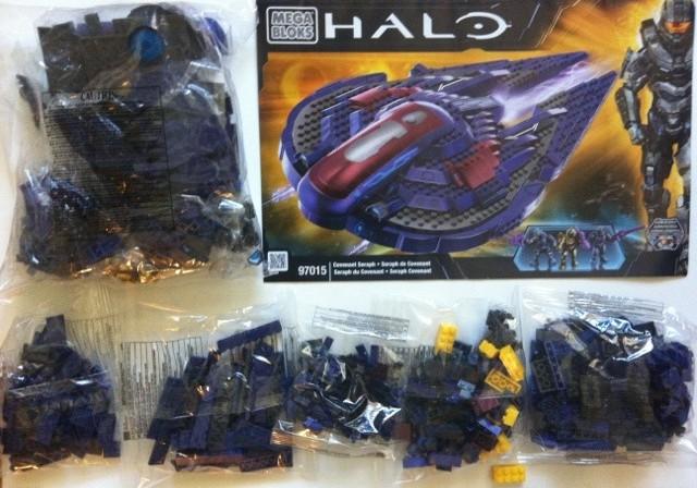 Construction On The 97015 Halo Mega Bloks Covenant Seraph Begins