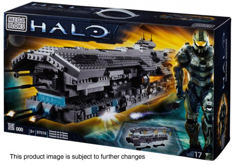 Halo Mega Bloks Forward Unto Dawn Surprise Set Prototype