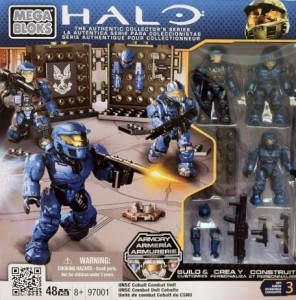 Packaged Halo Mega Bloks UNSC Cobalt Combat Unit 97001