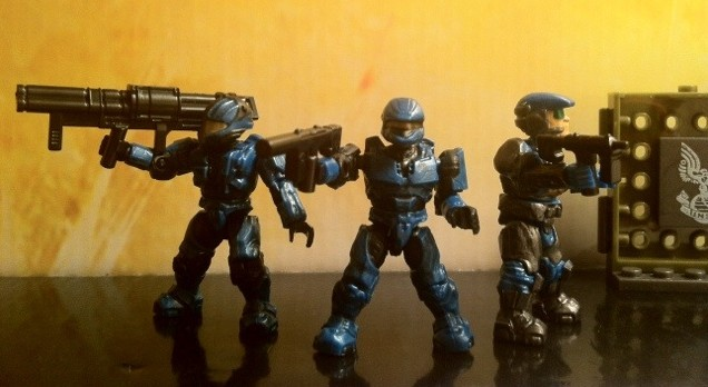 Halo Mega Bloks UNSC Cobalt Combat Unit Attacks 97001