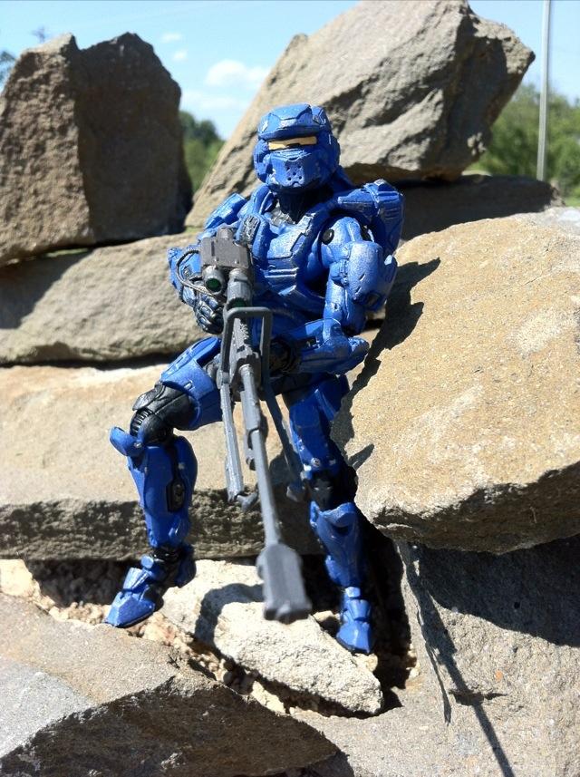 mcfarlane toys halo 4 spartan warrior blue series 1 figure