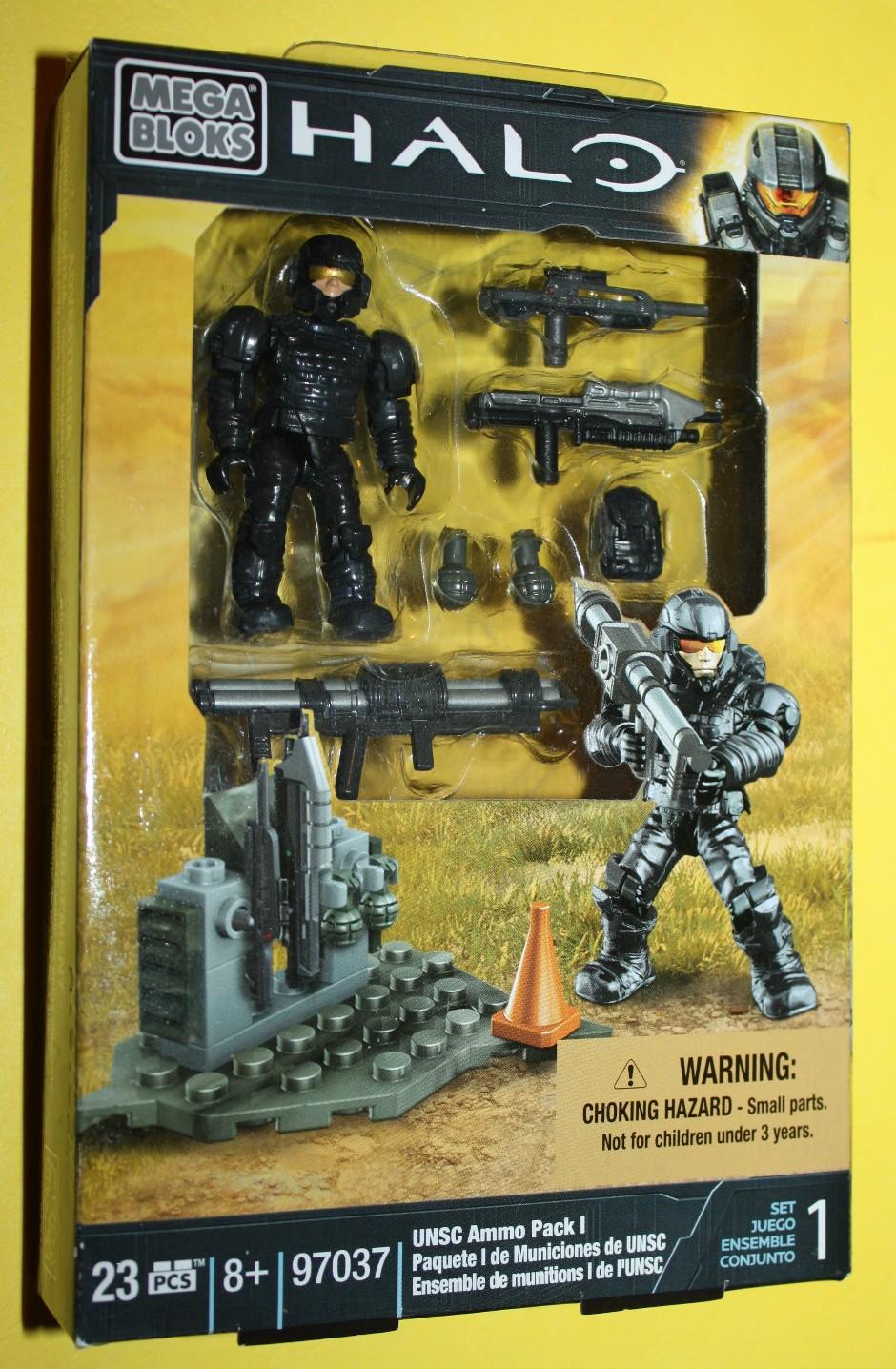 Halo 4 Mega Bloks UNSC Ammo Pack I 97037 Armored Marine