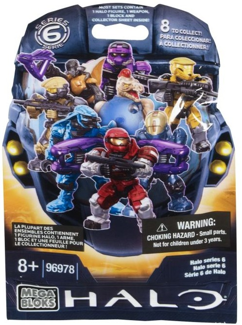 Halo Mega Bloks Series 6 Figures Blind Bags Package