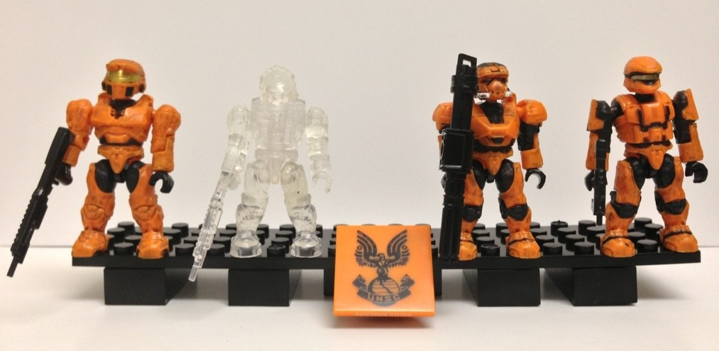Halo Mega Bloks Unsc Spartan Recon Scout Laranja Mini Figura