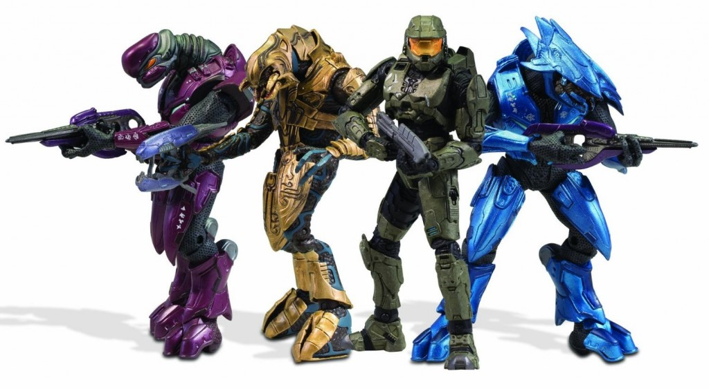 Halo 3 Campaign Co-Op Master Chief Arbiter and Elites Player Characters