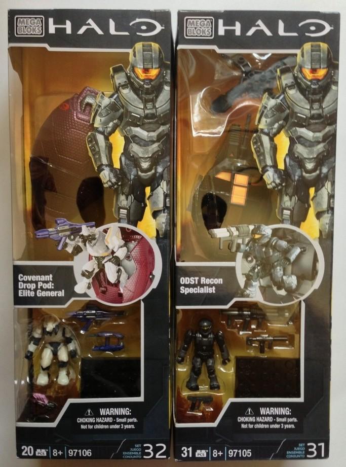 Halo Mega Bloks 2013 Drop Pods ODST Recon & Elite General Released ...