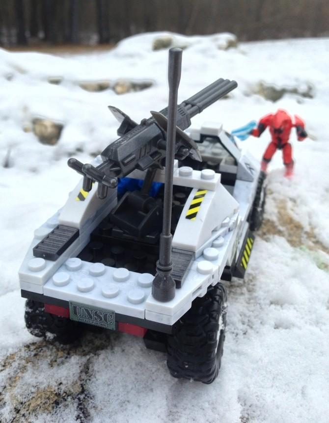 Mega Bloks Halo UNSC Arctic Rockethog Rear and Machine Gun Turret