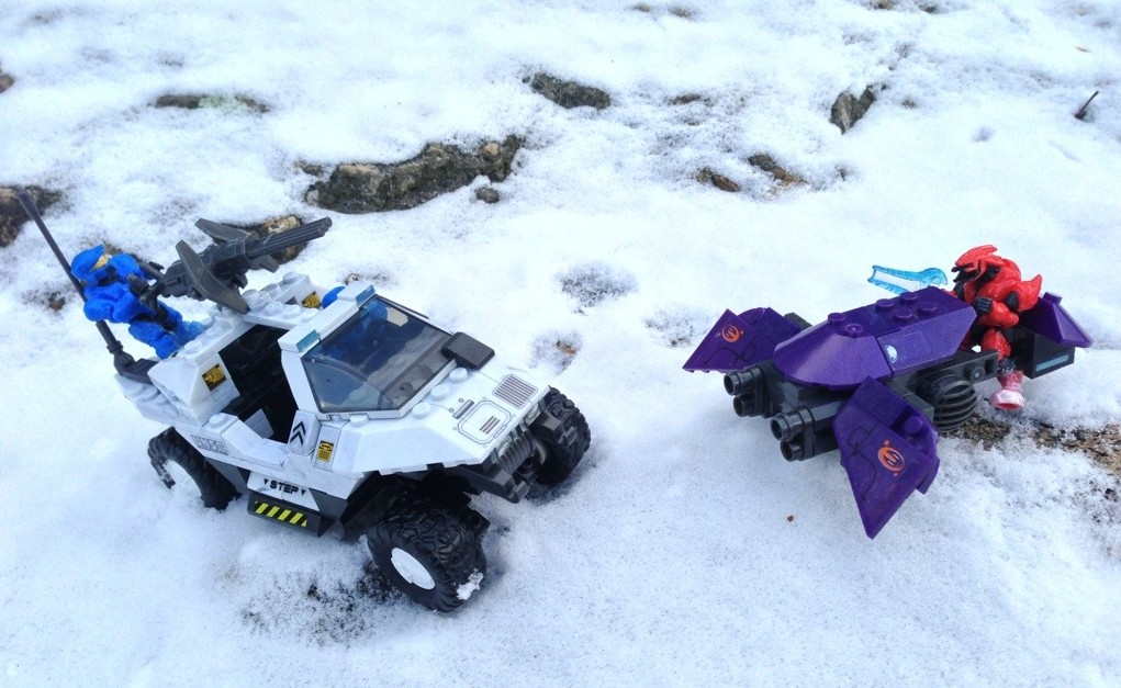 Halo Mega Bloks Snowbound UNSC Rockethog vs. Covenant Ghost 97003