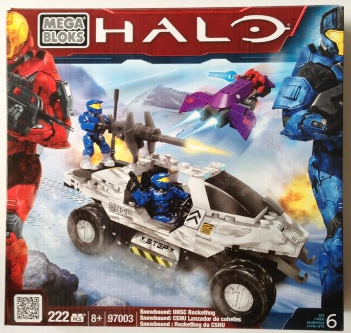 Halo Mega Bloks Snowbound Rockethog 97003 Box