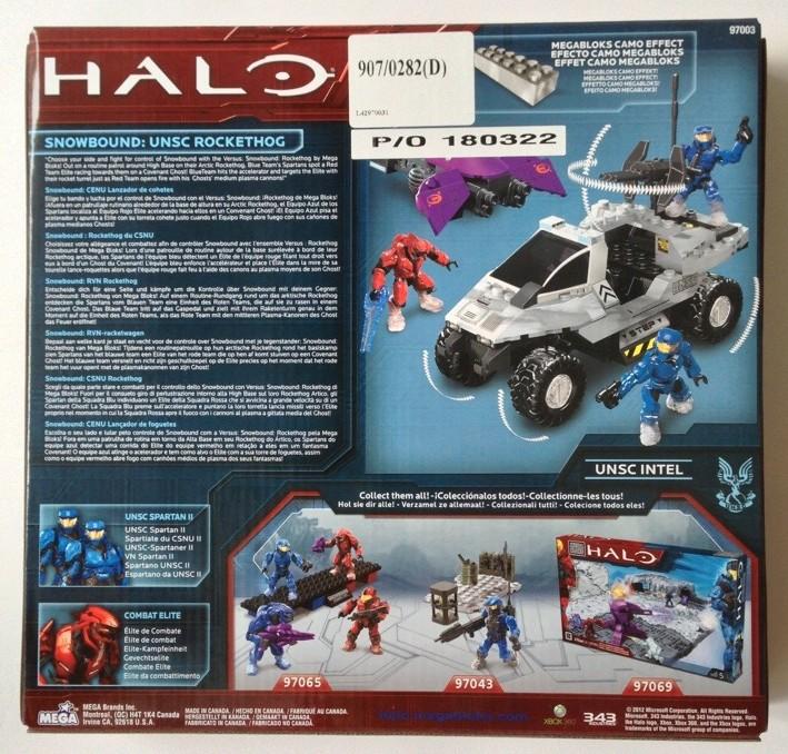 Versus Snowbound Rockethog 97003 Halo Mega Bloks Box Back
