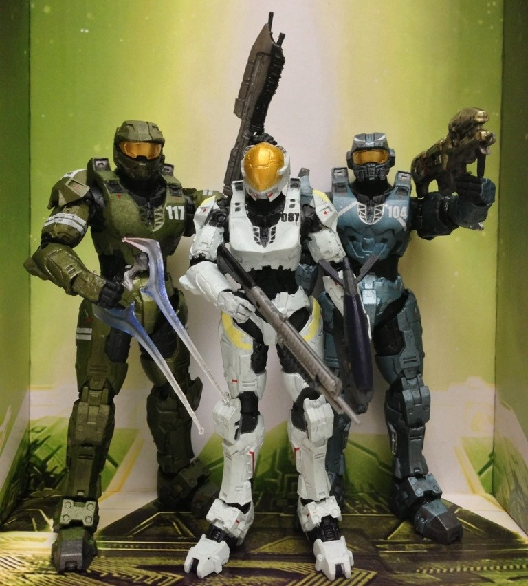 Mcfarlane Halo Legends The Package 3 Pack Review Halo Toy News