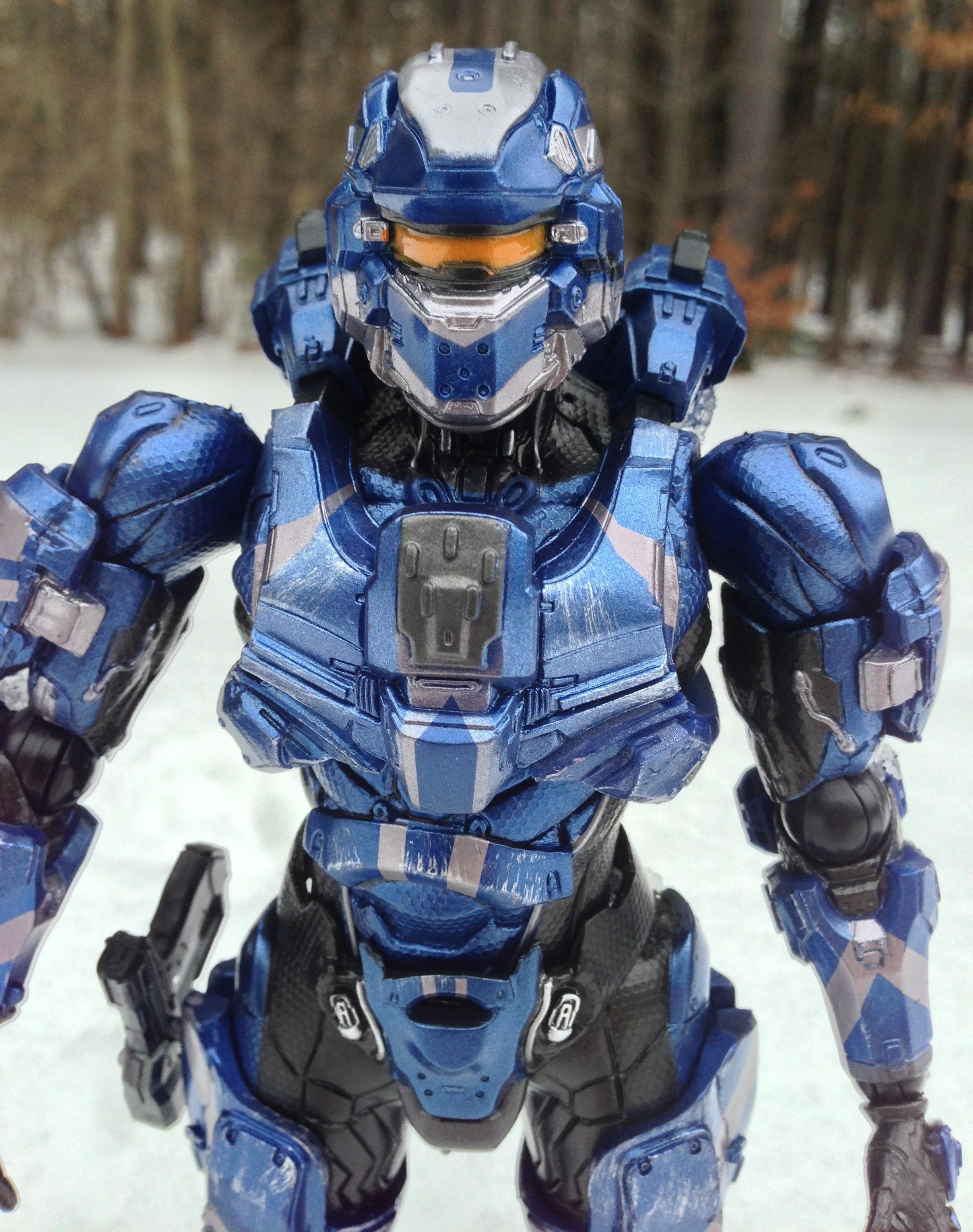 Halo 4 Play Arts Kai Spartan Warrior Figure Review (Square