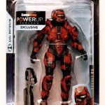 Halo 4 Red Spartan Warrior Powerup Rewards Action Figure
