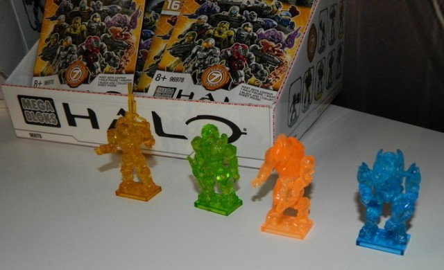 Halo Mega Bloks Mystery Packs Series 7 Clear Figures