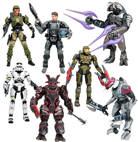 Halo Series 8 Action Figures McFarlane Toys Set with Halo Wars Arbiter