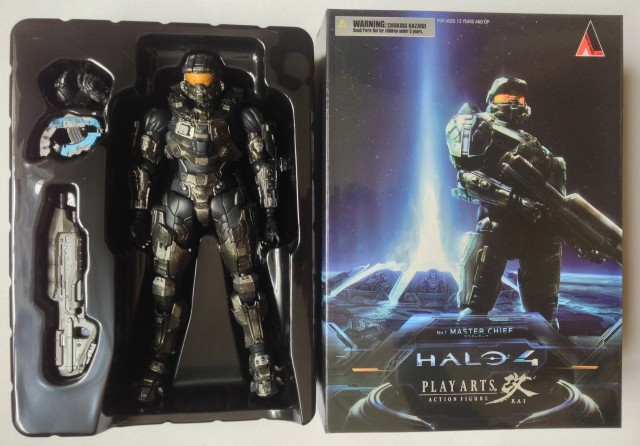 Halo 4 Play Arts Kai Master Chief Figure In Hand