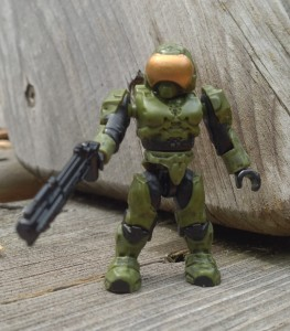 Halo Mega Bloks Halo 3 Security Spartan Green Figure with Grenade Launcher