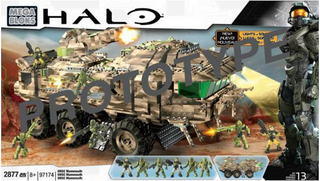 Halo Mega Bloks Signature Series UNSC Mammoth 97174 Set Box