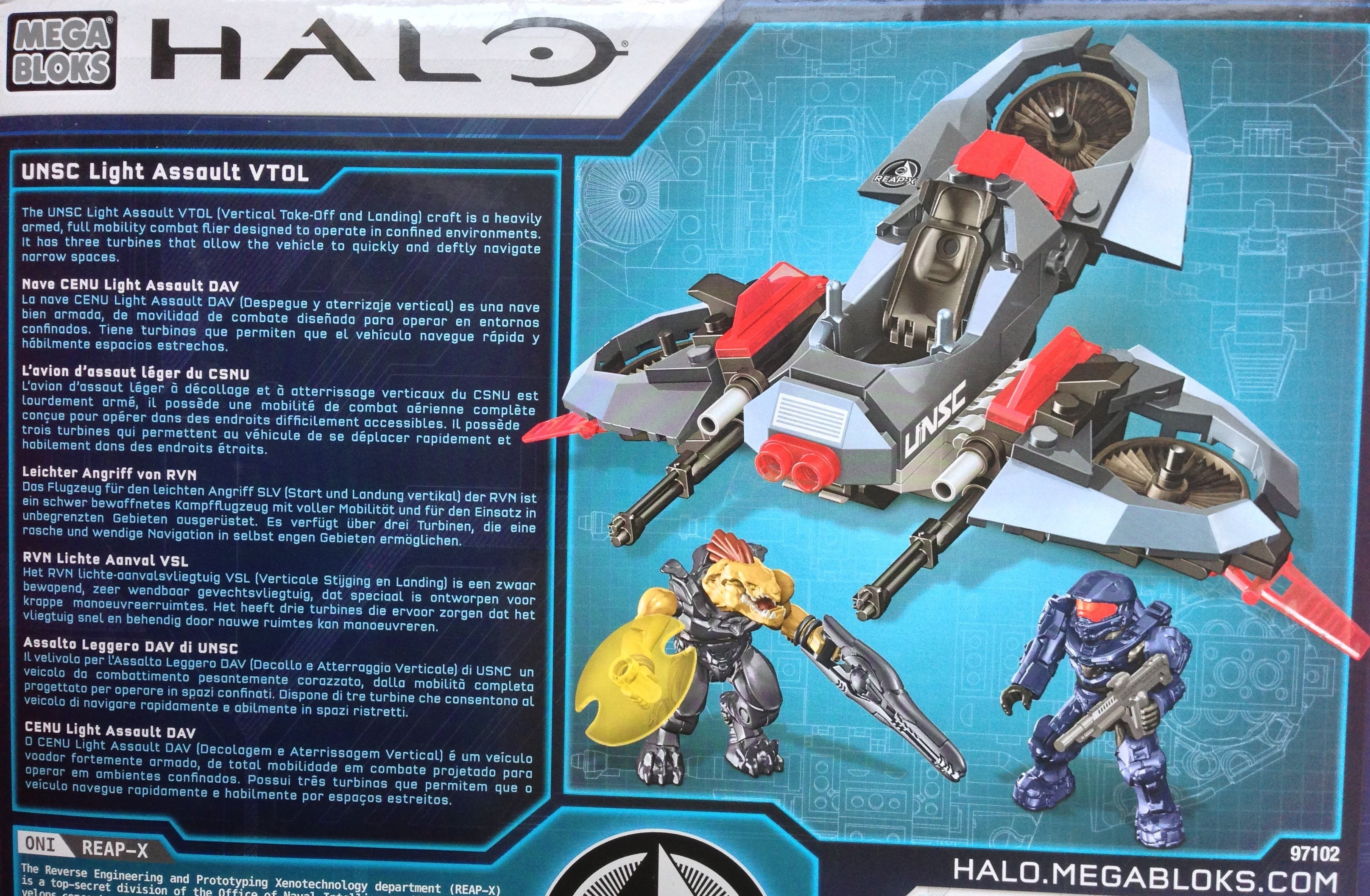 Halo Mega Bloks Unsc Light Assault Vtol Review 97102 Oni Reap X