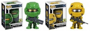 Halo 2013 SDCC Exclusives Yellow and Green Spartan Warrior Funko POP Vinyls