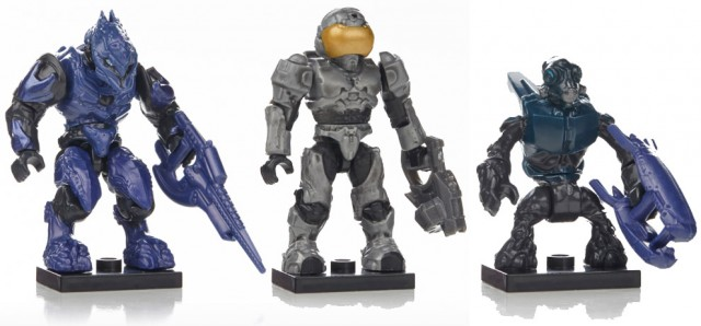 Halo Mega Bloks Series 7 Figures Elite Zealot Spec Ops Grunt Security Spartan