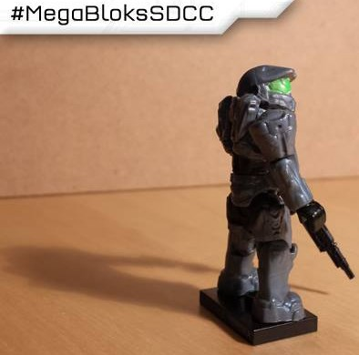SDCC 2013 Halo Mega Bloks Exclusive Steel Mark VI Spartan