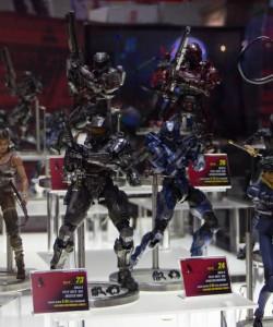 SDCC 2013 Halo Play Arts Kai Figures Display