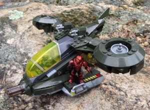 Halo Mega Bloks UNSC Hornet vs Covenant Vampire Review 97123
