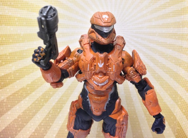 Halo 4 Series 2 Rust Spartan Scout Figure Review McFarlane Toys