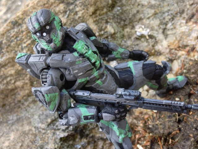 Halo 4 Spartan CIO Figure Steel Green Walgreens Exclusive McFarlane Toys