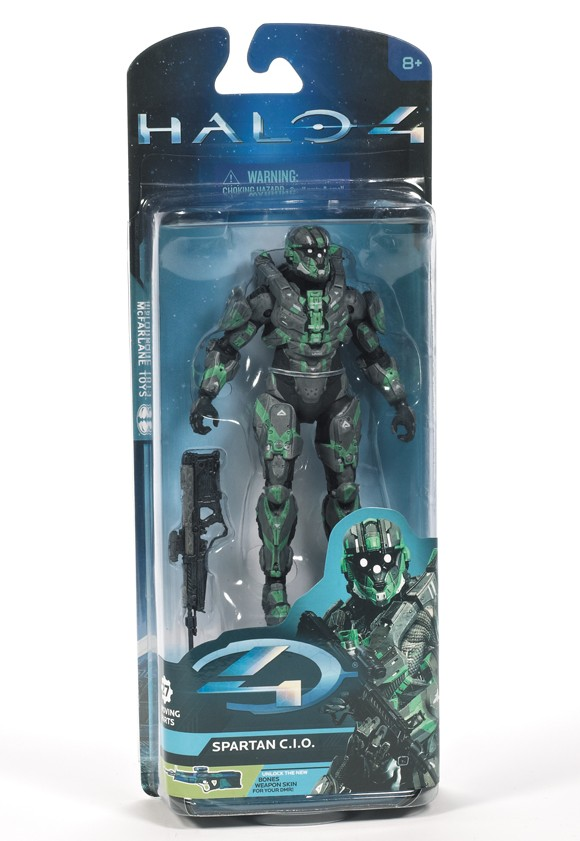Halo 4 Series 2 Spartan C.I.O. Steel Green Walgreens Exclusive Packaged