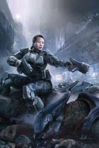 Halo Initiation #1 Cover and Review Dark Horse Comics Sarah Palmer
