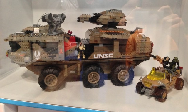 Halo Mega Bloks UNSC Mammoth Display at NYCC 2013