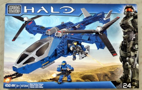 Halo Mega Bloks Blue Series Falcon Box