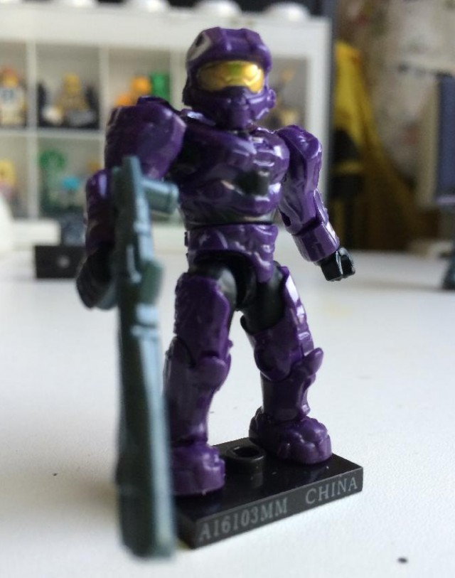 Halo Mega Bloks 2014 Series 8 Purple Spartan Mark VI Figure with Scattershot