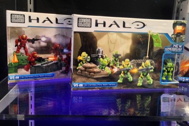 Halo Mega Bloks Fire Team Venom and Fire Team Crimson Sets