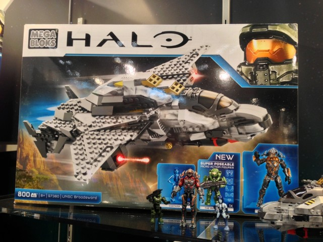 Halo Mega Bloks UNSC Broadsword 97830 Box 2014 Toy Fair