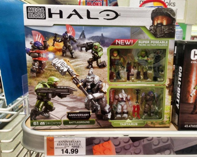 Halo Mega Bloks Anniversary Edition Battleground Set Released with Tartarus
