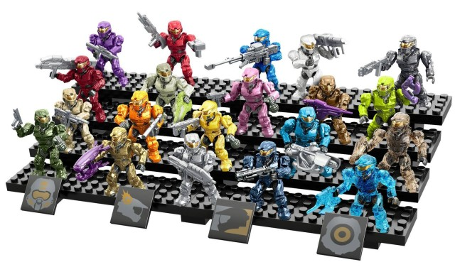 Halo Mega Bloks Spartan Tribute Pack Set with 20 Mark VI Spartans Figures