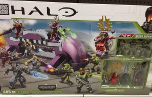 Fall 2014 Halo Mega Bloks Shadow Convoy Set with Prophet of Truth and Sergeant Johnson Figures