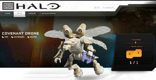 2015 Mega Bloks Halo Drone Figure