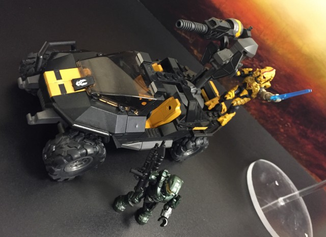 Halo 5 Mega Bloks UNSC Attack Gausshog 2015 Toy Fair