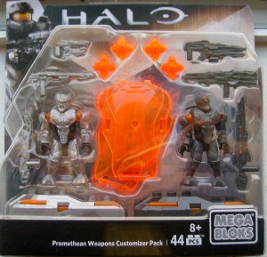 Halo Mega Bloks Promethean Weapons Customizer Pack Packaged